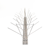 SHSS-87: Resist Bird And Animal 5 Rows Flexible Base Stainless Steel Bird Spikes