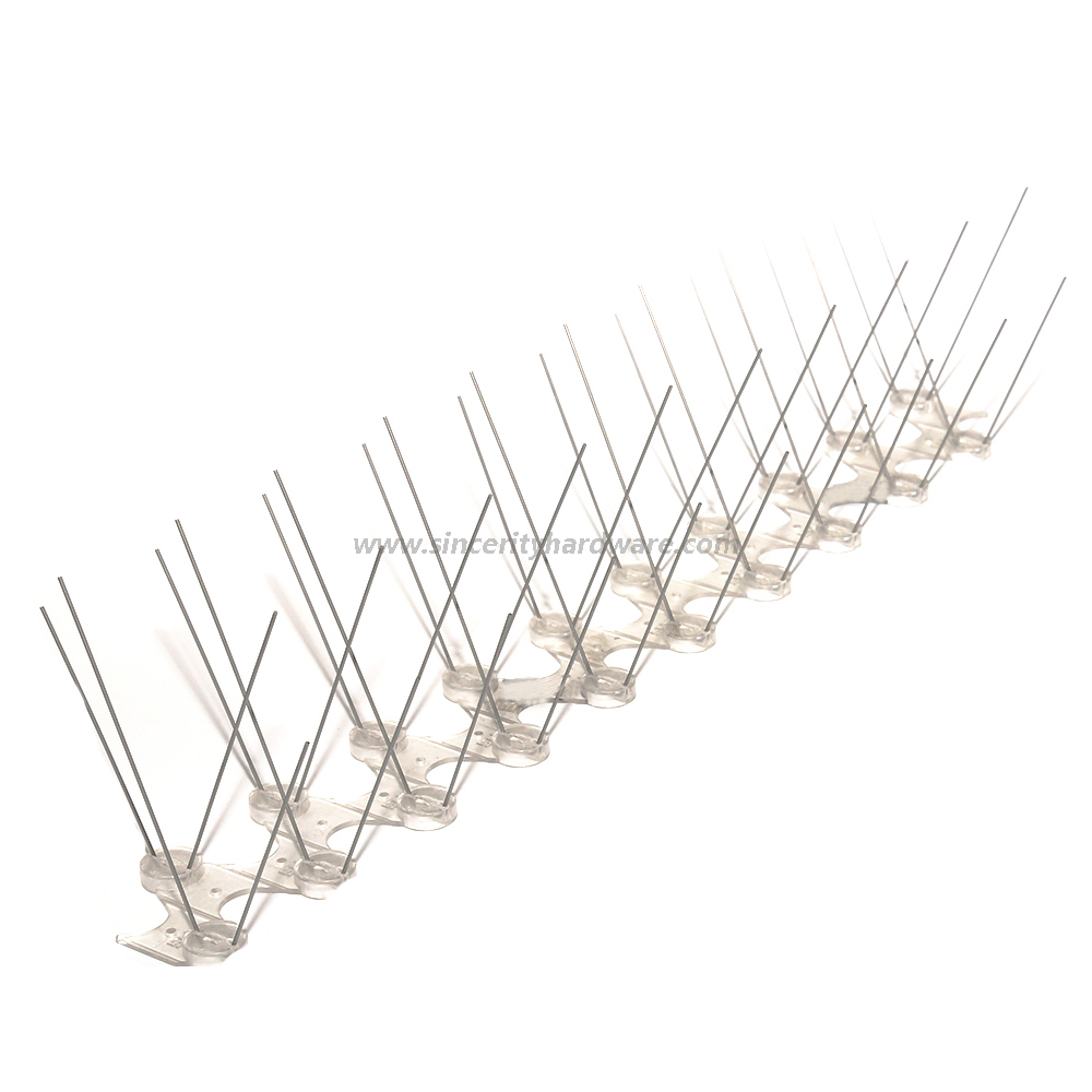 SHPC-27 Best Quality Plastic And Stainless Steel Pigeon Installing Bird Spikes
